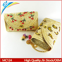 2017 New mexico style summer woven straw bag for women
