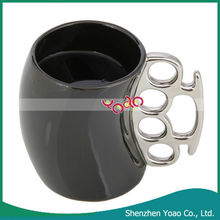 Fisticup Finger Handle Coffee Milk Cup Black