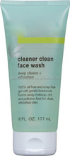 100% oil-free and soap-free face wash dissolves away dirt and makeup