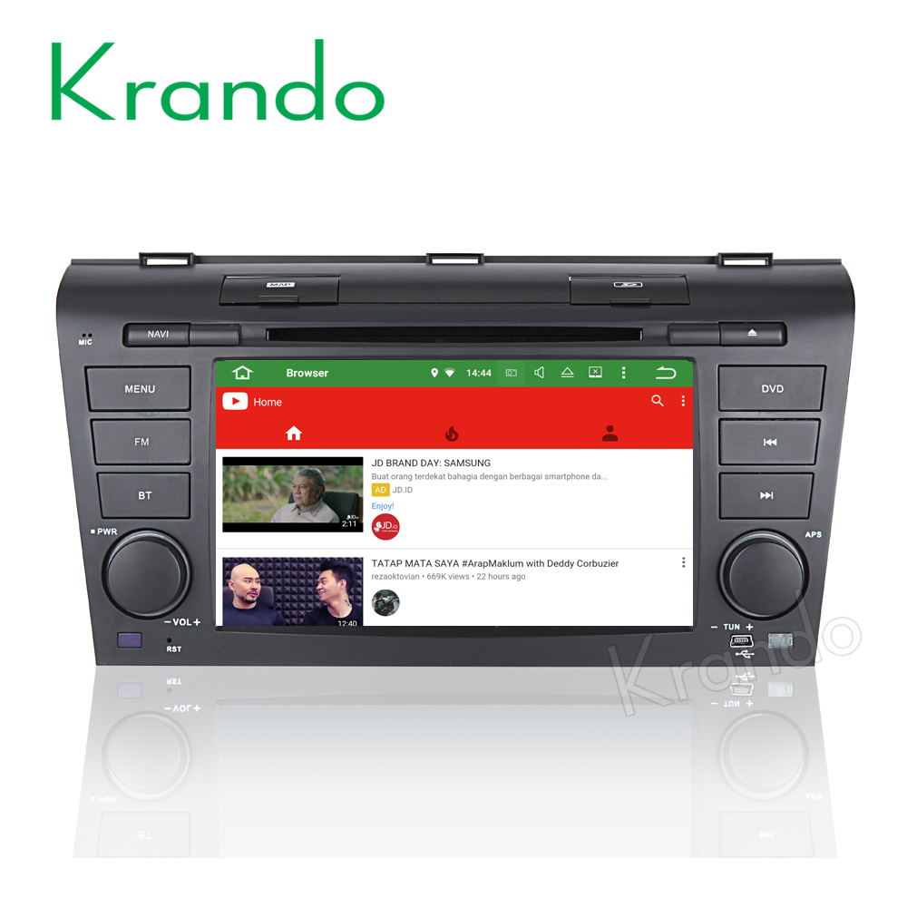 "Krando Android 6.0 7"" touch screen car radio for mazda 3 2004-2008 navigation dvd gps multimedia system 4G LTE 2G RAM KD-MZ370"