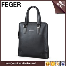 Drop shipping FEGER brand new cow leather handbag for men