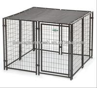 Outdoor large steel dog kennel(ISO9001)