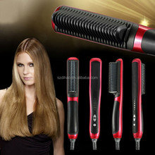 DIHAO 2016 most hottest fast hair straightener LED electric hair straightening brush brush hair Straightener