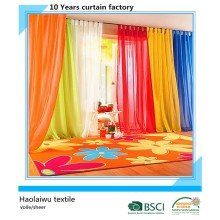voile/sheer/chiffon window curtain/curtain rings/curtain fabric