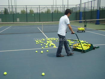 Tennis Ball Collecting Cart Ball Picking Up Tennis Cart