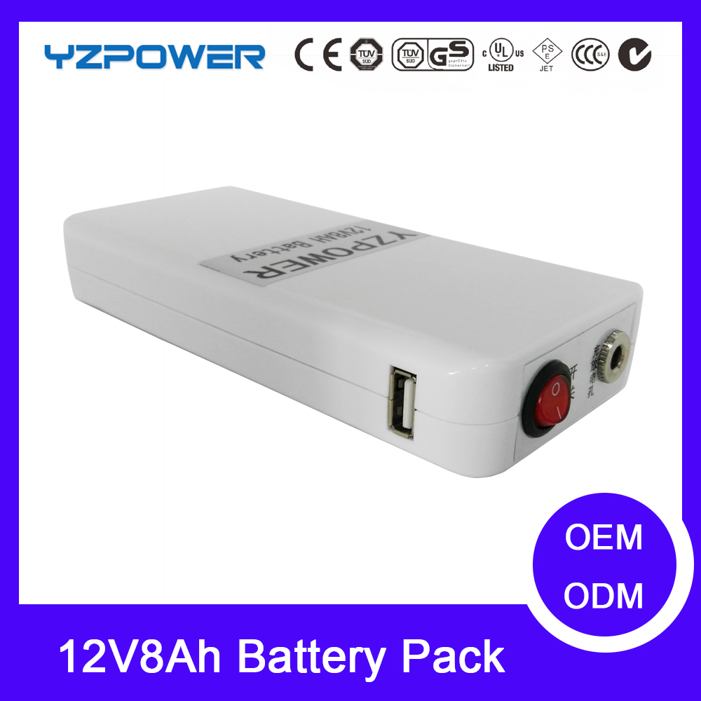 DC 12V Battery 7800mAh Li-ion Super Rechargeable Battery Pack High Volume Lithium Battery for Camera Medical with AC Charger