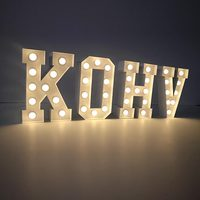 Led Lighted Up Alphabet LOVE Letter Sign Marquee Lighting Marquee Letters