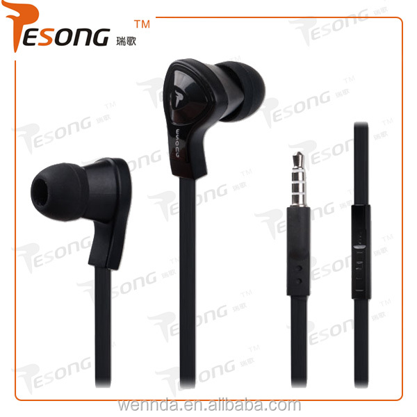 2014 new product disposable ear phones with flat cable