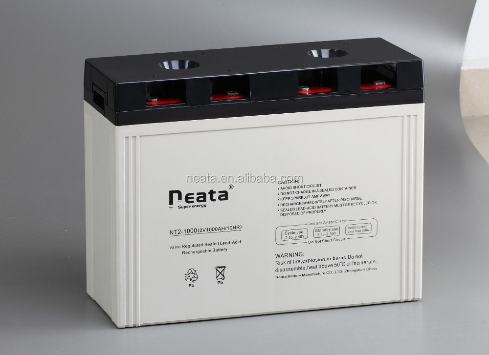 < NEATA BATTERY>Industry/home solar supply battery 2V deep cycle lead acid battery 2V1000Ah((CE,UL,RoHS,ISO Proofed)