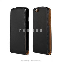 Simple Korea Up to Down Magnetic Vertical Leather Phone Flip Case for Blackberry 9300 9360