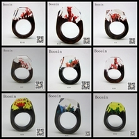 Handmade Fashion Exotic Wooden Tree Resin Ring wholesale jewelry 144-152