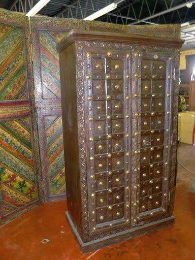 Antiguo india armario r stico arco marco de madera de teca - Armario rustico segunda mano ...