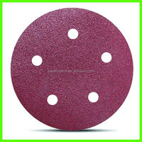 "5""aluminum oxide Abrasive hook and loop type sanding disc"