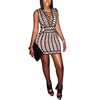 Wholesale new mix color black and white ladies sleeveless women dresses
