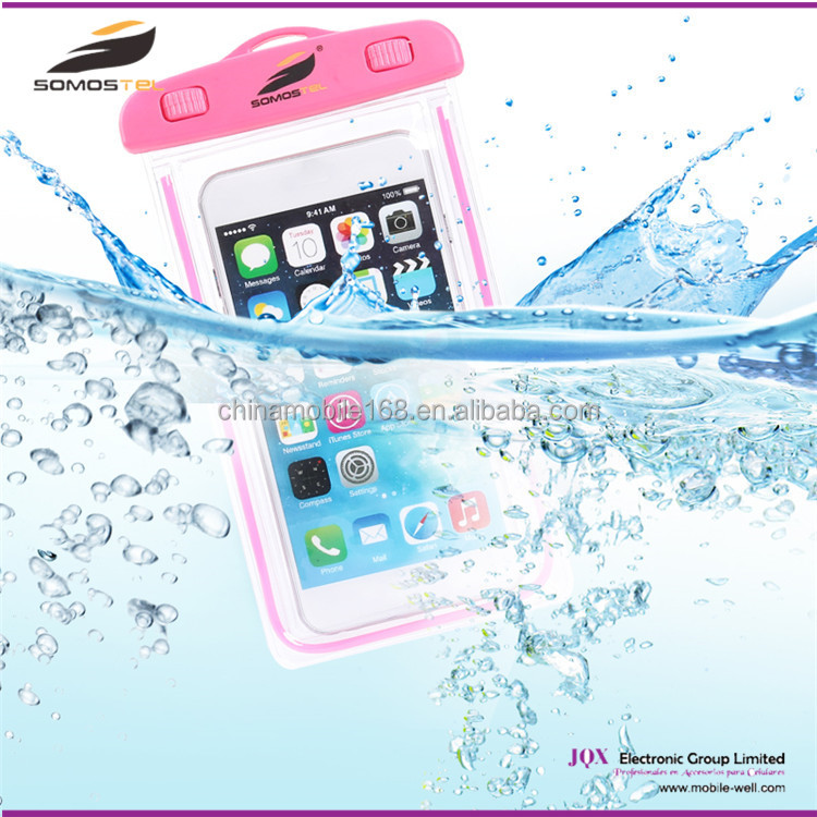 [Somostel] Hot promotional gift mobile phone PVC waterproof bag, waterproof cell phone case for sam galaxy grand prime s3 s4 s5