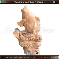 Beaufitul Stone Fish Sculpture for Garden Decoration