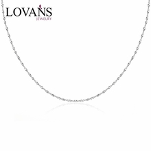 Wholesale Fashion Jewellery Accessory 16/18 Inch 925 Sterling Silver Necklace Chain