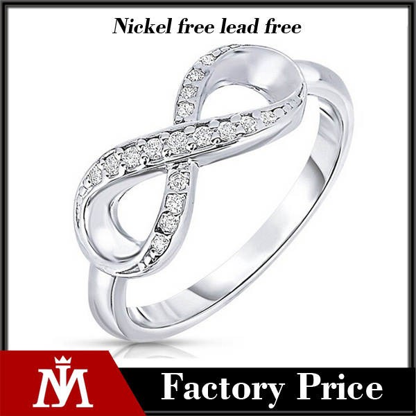 925 sterling silver crystal infinity ring