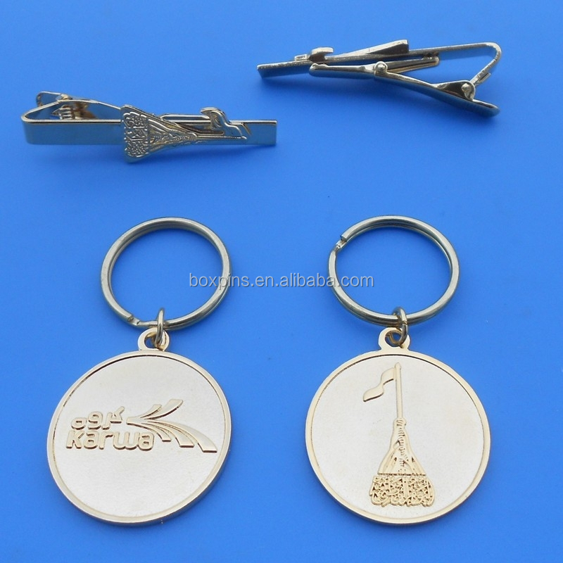 Qatar Building Printing Keyring and Tie Pin Clip