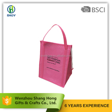 Hot Sales 2017 For Promotion Imprint Logo Nylon Or Non Woven Insulated Foldable Cooler Bag
