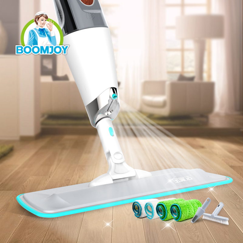 Extensible stainless handle extra wide microfiber floor cleaning super magic healthy spray mop