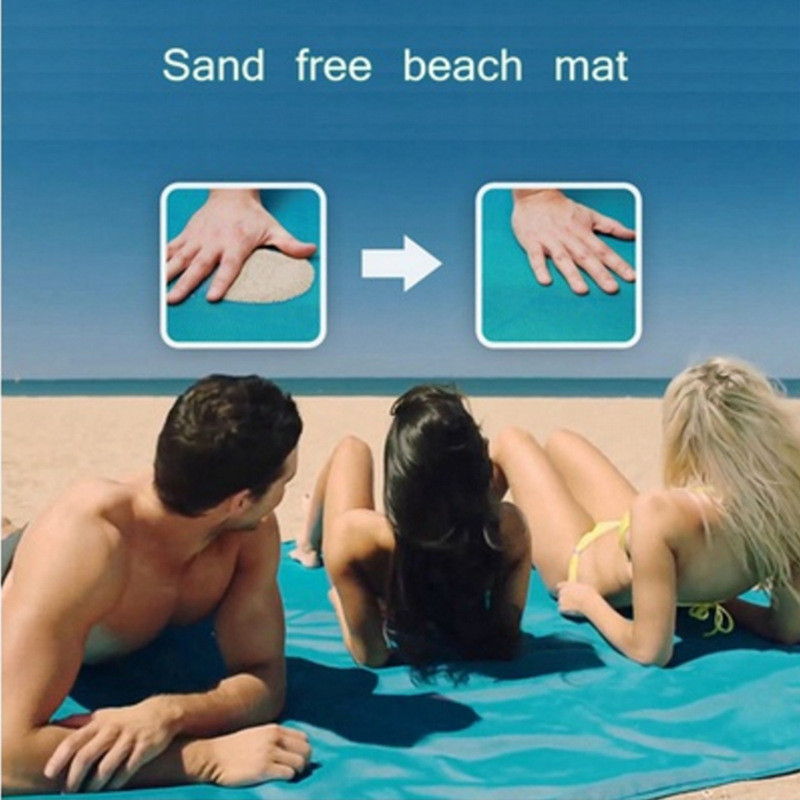Hot camping beach blanket folding outdoor pinic sand free mat with 3 colors