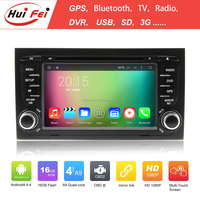 2015 new coming car gps 2 din car radio for audi a4 with dvd+mp3+dtv+radio+ipod built-in wifi