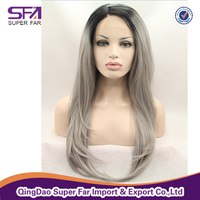 Factory grey synthetic wigs for black men wholesale