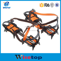 Brand Steel Anti Slip 10 Teeth Ice Snow Climbing Shoe Spike Grip Chain Crampon Cleat Walking Cleat Ice Gripper Anti Slip Spike