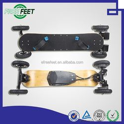 hot selling 3300w lithium battery mini electric vehicle blank wooden kickboard skateboard with led light wheels