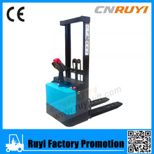 Full Electric Powered Forklift Pallet Stacker with Straddle Leg