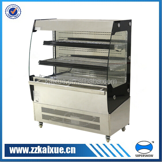 stainless steel small display showcase refrigerator