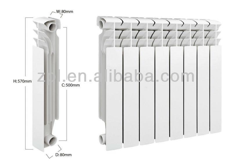 la maison de chauffage à eau chaude radiateur en aluminium