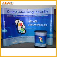 3*3, 3*4 Velcro Pop Up Banner Stand for exhibition