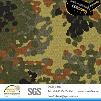 1000D nylon cordura camouflage waterproof fabric