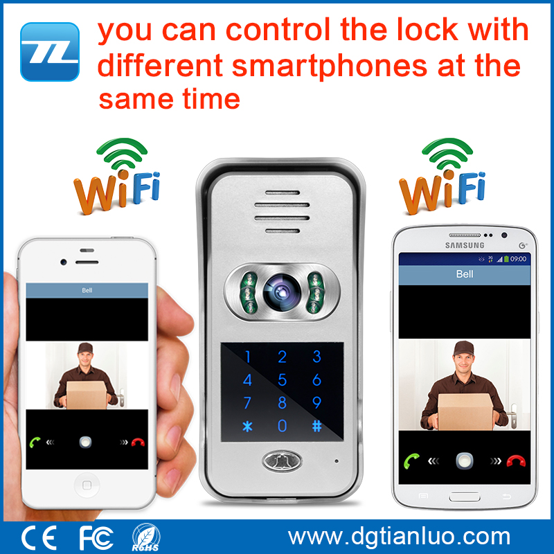 wifi video door bell with camera doorbells , wifi video door phone connect to mobile phone free app