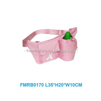 Eco reusable recycled women water bottle waist bag