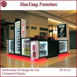 Baking Painted Mall Fashionable Phone Display Kiosk/Case/Stand/Cabinet For Cellphone Store Furniture