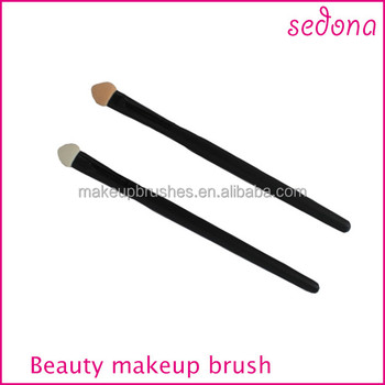 Cheap eyeshadow applicator, sponge tip eyeshadow brush, disposable single side makeup brush, factory directly supply