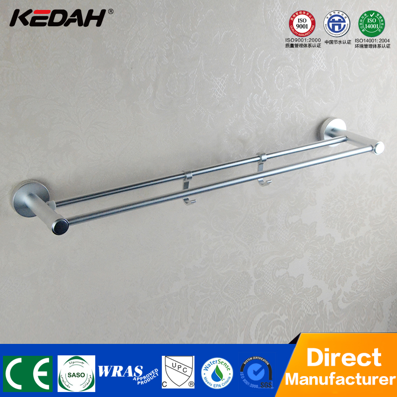 modern style brass wall mount extension towel bar with hook