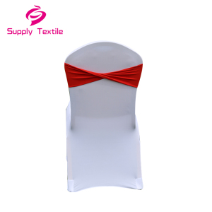 Wholesale Red Banquet Decoration Spandex Chair Cover Bands