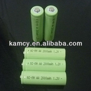 1.2volt batterie AA 2600mAh Ni-Mh battery