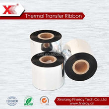 "Resin enhanced Wax TTR (Thermal Transfer Ribbon)110mm x 300 meters, barcode ribbon for Zebra TSC label printer 1"" core"
