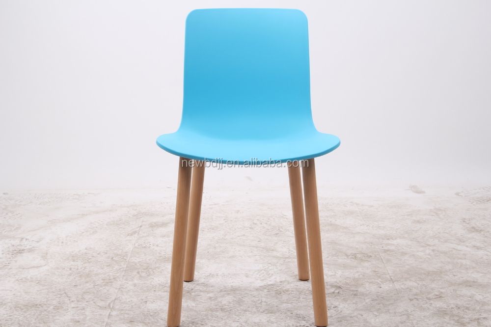 Blue Color Modern Plastic Dining Strong Chair Strong Cover