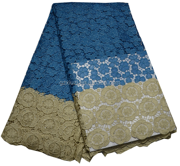 100% Polyester Materials Latest African Lace Fabric Nigerian Styles Cord Lace For Garment
