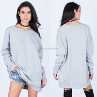Off White Grey Sweatshirt 100% Cotton super soft french terry Oversized Sweater Tunic Wear As Top Or Dresses