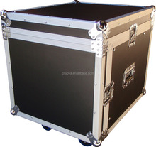 "Speed Case 19"" 8RU /12RU mixer slanted flight road case on wheels"