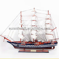 Wood model sailing boat