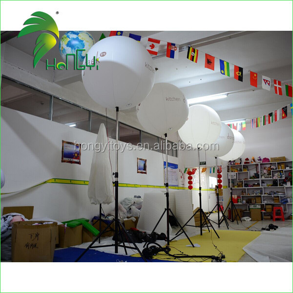 Custome Wedding Decorating Inflatable Standing Tripod Light Ball , Inflatable LED Balloon For Advertising