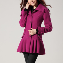 W70915G latest european style fashion women coat and skirt elegant wholesale wool women coat